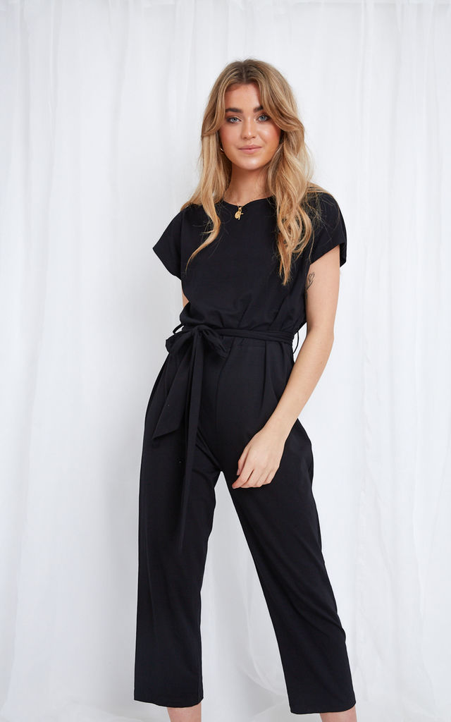 Eliza Jumpsuit - Black by Pretty Lavish