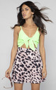 Santa Cruz DRESS IN Lime and Blush Leopard Mix by Dancing Leopard