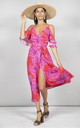 Ivy Dress Pink and Red bloom by Dancing Leopard