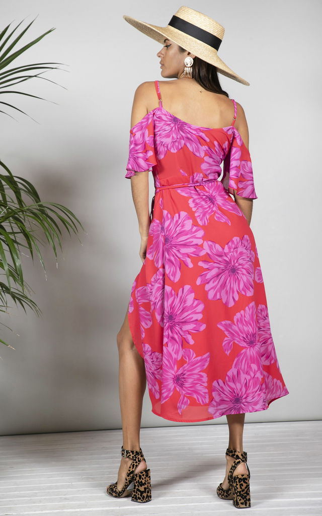 Ivy Dress Pink and Red bloom image