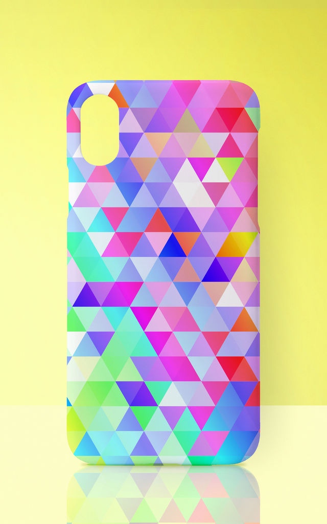 Rainbow Triangles Multicolour Print Phone Case by Art Wow