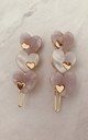 Set of Two Heart Hair Clips in Lilac Pearlescent Resin by Gold Lunar