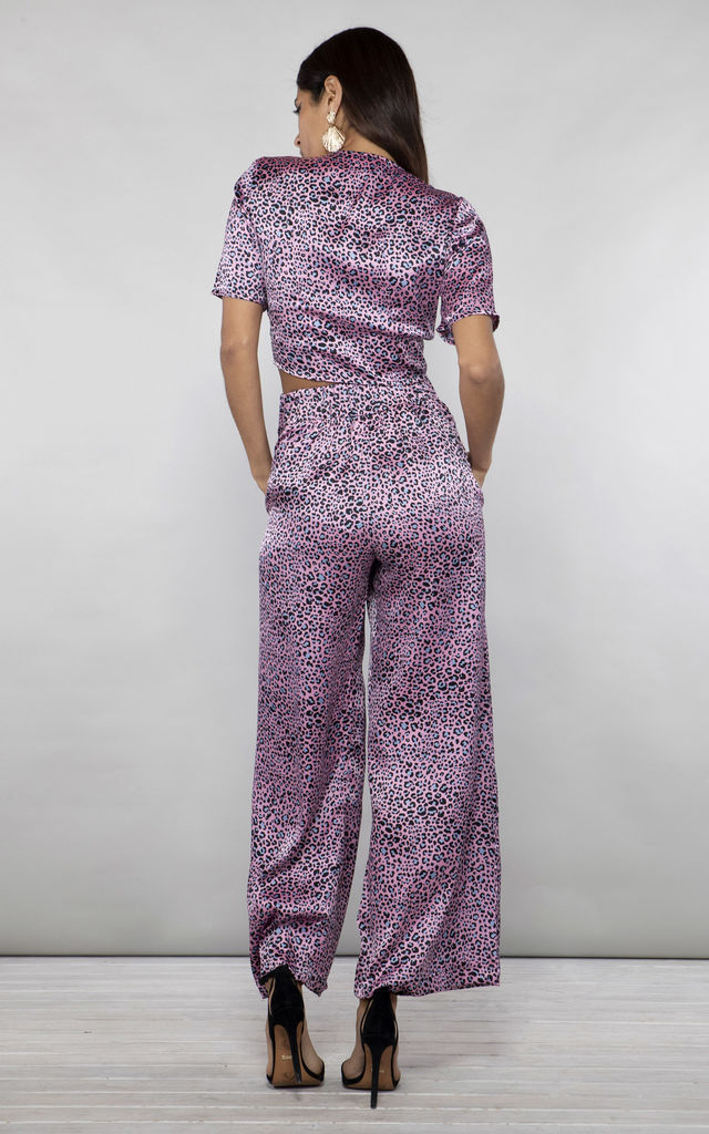CHINCHILLA PANT in Pink Ditsy Leopard (Variant) image