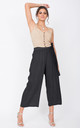 Culotte Summer Trousers Crinkle Black by likemary