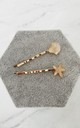Set of Two Gold and Resin Hair Clips with Starfish & Shell Designs by Gold Lunar