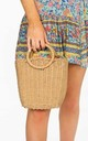 Tan Wicker Bucket Bag by Dressed In Lucy