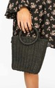 Black Wicker Bucket Bag by Dressed In Lucy