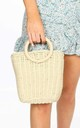 Beige Wicker Bucket Bag by Dressed In Lucy