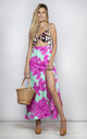 Malibu Dress in Mint and pink bloom by Dancing Leopard