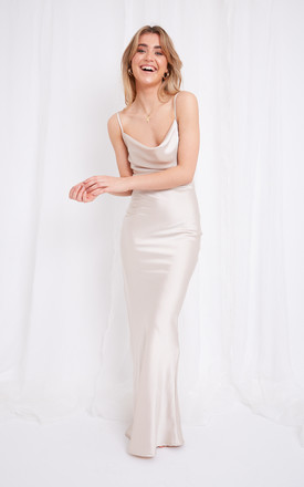 Keisha Slip Maxi Dress   Champagne by Pretty Lavish Product photo