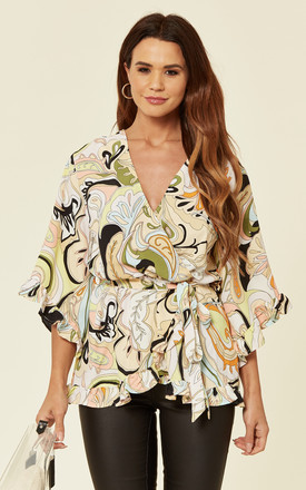 Multi Printed Wrap Over Top by AX Paris