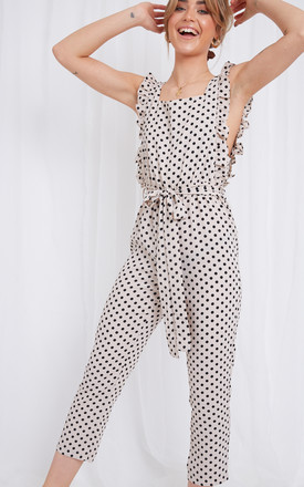 Effie Ruffle Jumpsuit - Polka Dot by Pretty Lavish