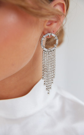 Lili Statement Earrings - Silver by Pretty Lavish