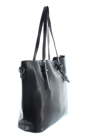 TERN Faux Leather Tote Handbag in Black by Ruby Rocks Boutique