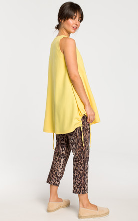 Long Loose Sleeveless Top in Yellow by MOE