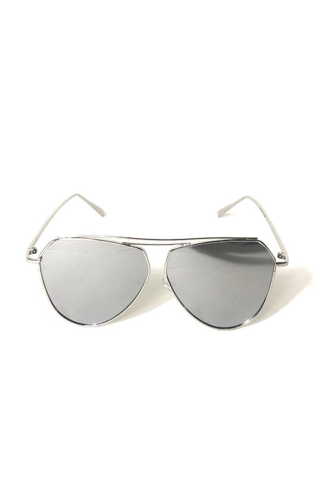 MILEZ Silver Mirrored Sunglasses by ShaniceEmily