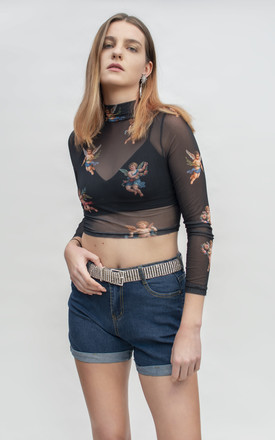 Angel Black Mesh Top by Alice's Lips Product photo