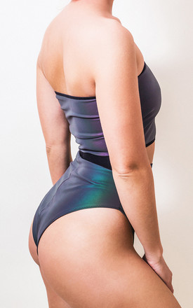 Reflective Iridescent High Rise Knicker by Loonigans