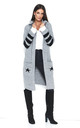 Longline Hooded Cardigan with Pockets in Grey by Makadamia