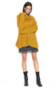 Oversized Sweater with Turtleneck in Yellow by Makadamia