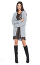 Open Front Oversized Cardigan in Light Grey by Makadamia