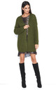 Open Front Oversized Cardigan in Khaki Green by Makadamia
