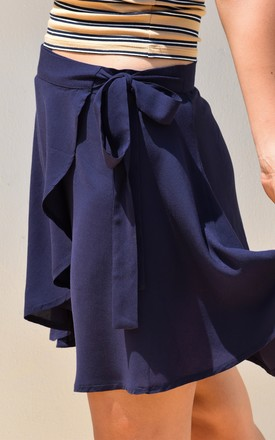 Wrap Around Beach Skirt Navy by Ararose Clothing Product photo