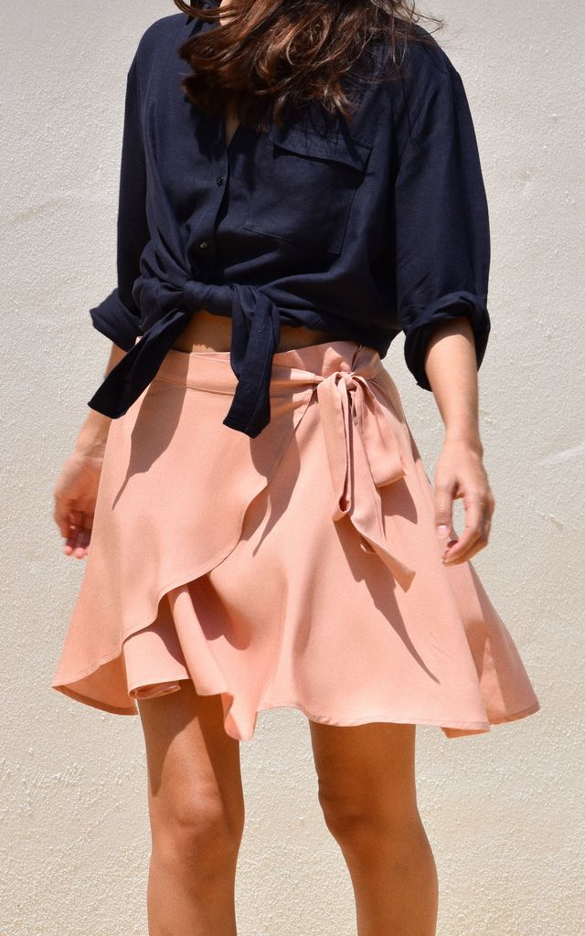 Wrap Around Skirt Blush Pink by Ararose Clothing