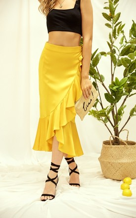 Austin Yellow Wrap Skirt by Style Cheat