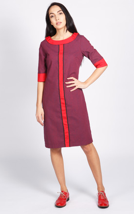 Bloomsbury Shift Dress In Purple And Red by LAGOM Product photo