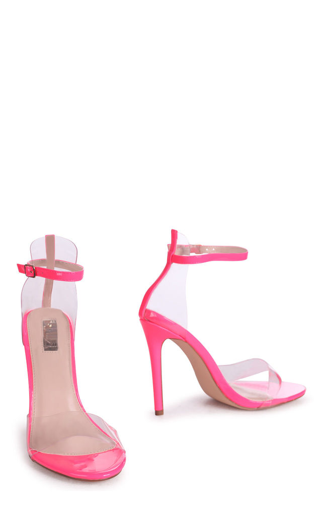 Feisty Neon Pink Patent Perspex Stiletto Heel by Linzi
