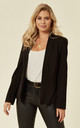 Valerie Black Open Lapel Blazer by De La Creme Fashions