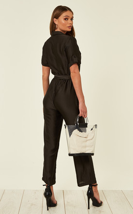Black Short Sleeve Jumpsuit by Clothes Minded