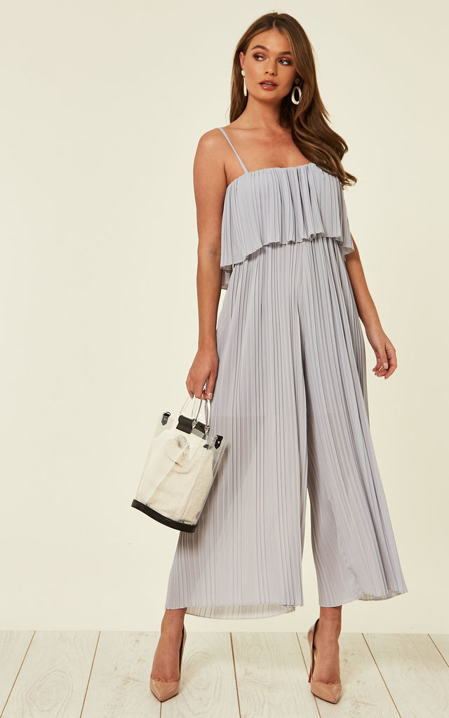 Daphne Wide Leg Jumpsuit Grey by Studio Mouthy