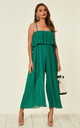 Daphne Wide Leg Jumpsuit Green by Studio Mouthy