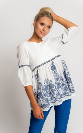 Porceline flare top by Miss Attire