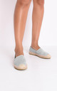Faux suede flat espadrilles grey by LILY LULU FASHION