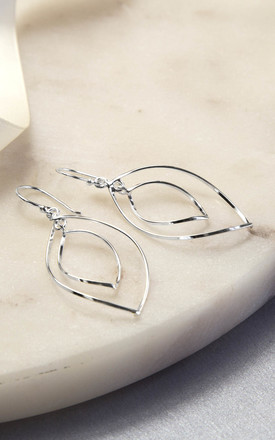 Sterling Silver Wire Ellipse Earrings by Martha Jackson Jewellery