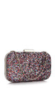 Evening prom clutch bag in sparkly multi glitter sequins by Hello Handbag