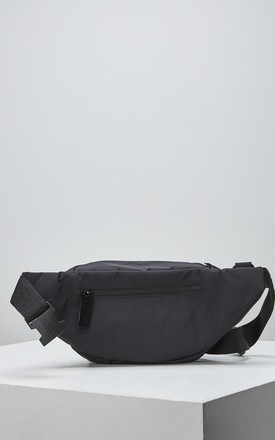 Twine Bum Bag with Zips in Black by Slydes Footwear