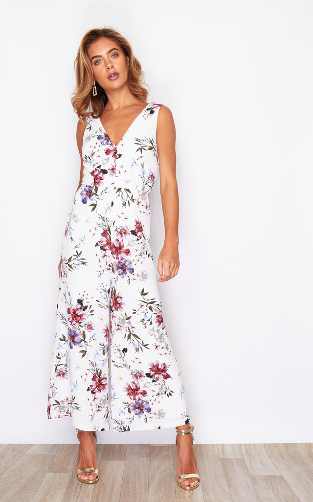 PollyV Neck Culotte Jumpsuit English Garden by Girl In Mind