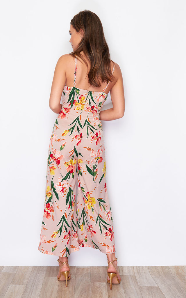 Pia Cowl Neck Culotte Jumpsuit Print by Girl In Mind
