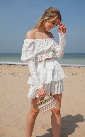 White Multi Frill Mini Skirt by Styled In London Product photo