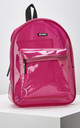 Mist Shiny Backpack in Neon Pink by Slydes Footwear