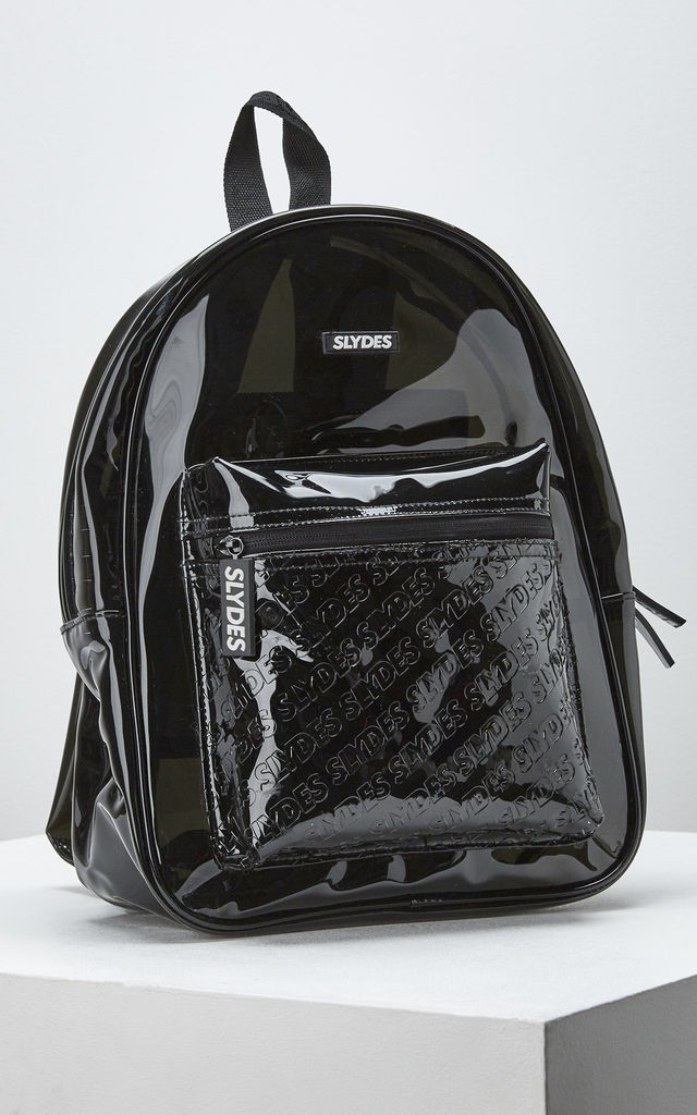 Mist Shiny Backpack in Black by Slydes Footwear