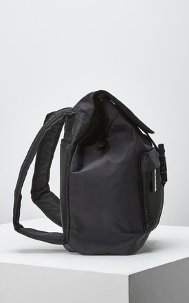 Fuse Backpack with Front Flap in Black by Slydes Footwear