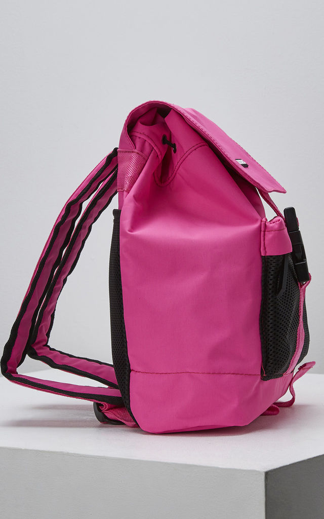 Fuse Backpack with Front Flap in Neon Pink by Slydes Footwear