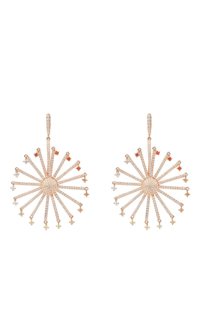 DROP ROSE GOLD EARRING WITH FERRIS WHEEL DESIGN by Latelita