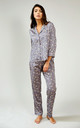 Floral Nightwear Pyjama Trouser Bottoms in Dove Grey by Pretty You London