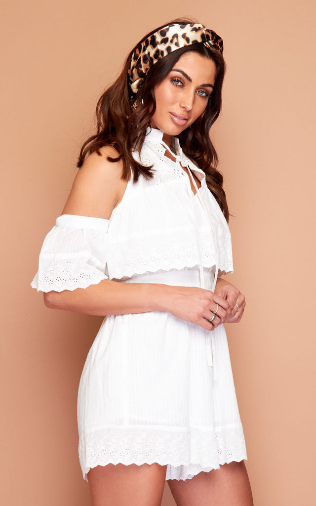 Sweet Love white summer Playsuit by Wired Angel